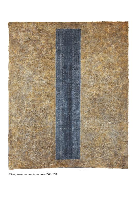 Max Wechsler, De la lettre au signe. Papier marouflé sur toile.