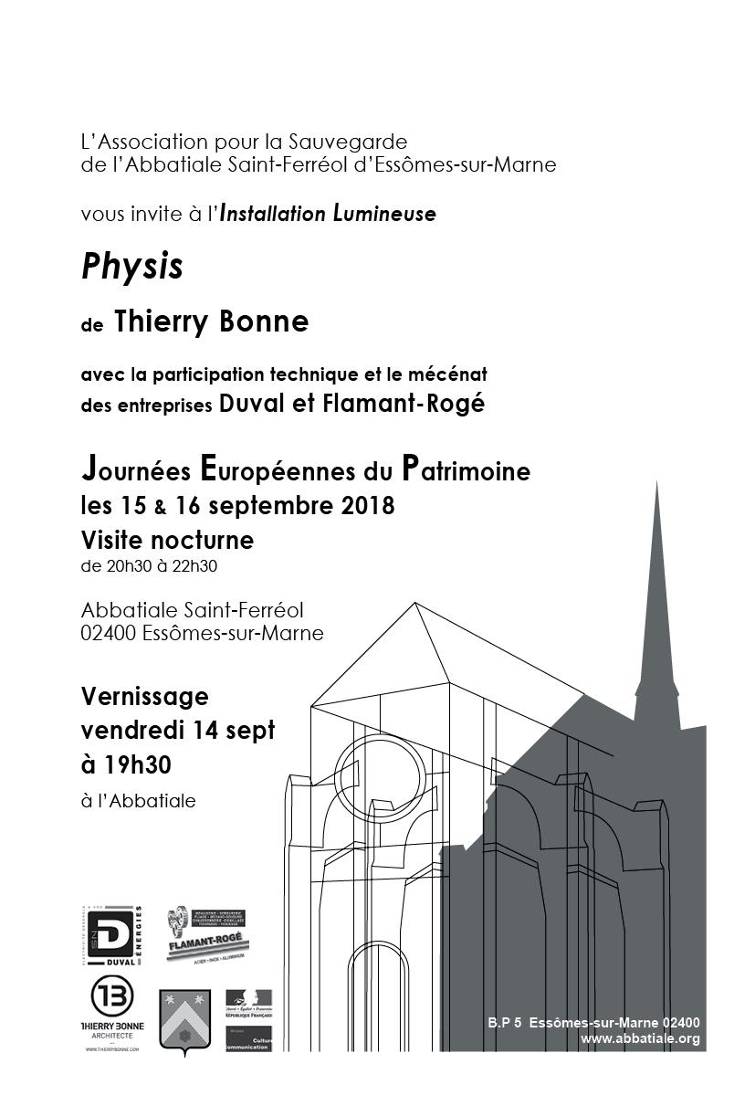 Installation Lumineuse , <em>Physis</em>, de Thierry Bonne